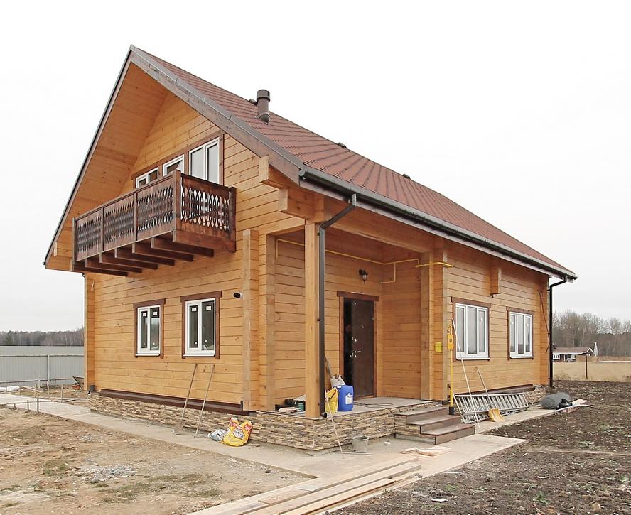 Портфолио - Дом - 137 кв.м. - под КЛЮЧ (клееный брус)